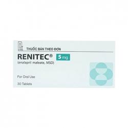 Thuốc tim mạch Renitec 5mg, Hộp 30 viên
