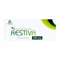 Restiva 600mg Medisun 3 vỉ x 10 viên