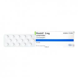 Thuốc Roche Rivotril Clonazepam 2mg, Hộp 60 viên