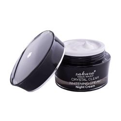 Kem giúp giảm nám, dưỡng trắng da ban đêm Sakura Crystal Clear Whitening Cream Night Cream