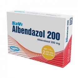 SaviPharm Savi Albendazol 200mg, Hộp 2 viên