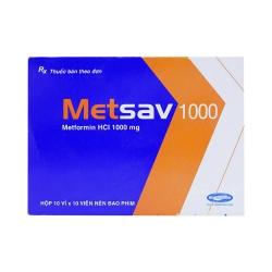 SaviPharma Metsav 1000, Hộp 100 Viên