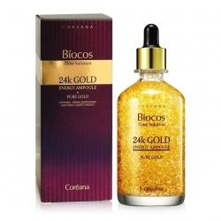 Tinh chất vàng trẻ hóa da Serum Coreana Biocos 24K Gold, Chai 100ml
