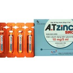 Siro bổ sung kẽm A.T ZinC 10mg/5ml, Hộp 30 ống
