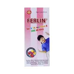 Siro bổ sung sắt Ferlin Sắt/B1 30mg/10mg, Chai 60ml