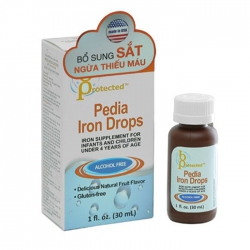 Siro bổ sung Sắt Pedia Iron Drops, Lọ 30ml