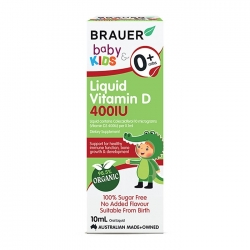 Siro bổ sung Vitamin D Brauer Baby and Kids Liquid Vitamin D 400IU 10ml