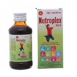 Siro bổ sung vitamin và acid amin Nutroplex 60ml