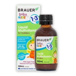 Siro bổ sung Vitamin và khoáng chất Brauer Baby and Kids Liquid Multivitamin for Toddlers 100ml