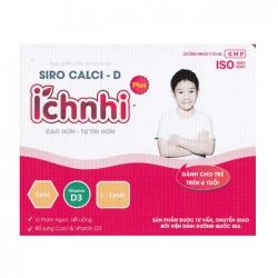 Siro Canxi - D Ích Nhi Plus, 20 ống x 10 ml