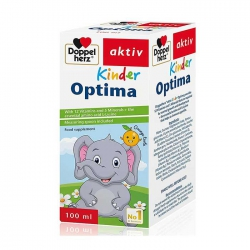Siro Doppelherz Kinder Optima Vitamin tổng hợp cho trẻ biếng ăn, kém hấp thu