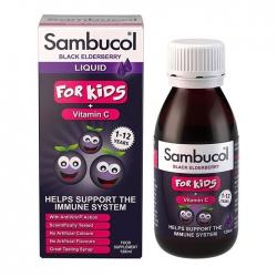 Siro tăng sức đề kháng Sambucol For Kids + Vitamin C Liquid, Lọ 120ml