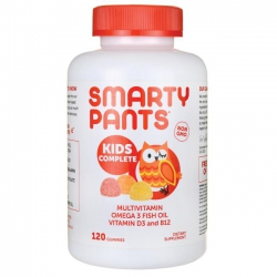 Kẹo dẻo Smarty Pants Multivitamin Omega 3 Fish Oil Vitamin D3 and B12, Chai 180 viên