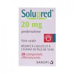 Thuốc Sanofi Solupred 20mg, Chai 20 viên