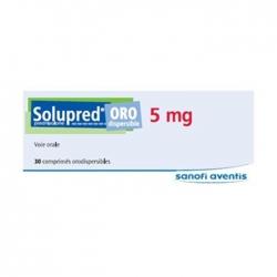 Thuốc Sanofi Solupred ORO Dispersible 5mg, Hộp 30 viên