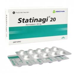 Statinagi 20mg Agimexpharm 3 vỉ x 10 viên