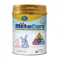 Sữa bột Nutricare Metacare 1 phát triển toàn diện cho trẻ 0-6 tháng tuổi, 400g