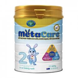Sữa bột Nutricare Metacare 2 phát triển toàn diện cho trẻ 6-12 tháng tuổi, 400g