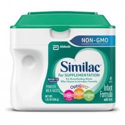 Sữa bột Similac for Suppelmentation Non GMO dành cho bé từ 0-12 tháng