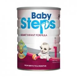 Sữa dê Babysteps Goat Infant Fomula dành cho bé từ 0-6 tháng tuổi
