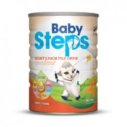 Sữa dê cho bé từ 2 tuổi trở lên Baby Steps Goat Junior Milk Drink 900g
