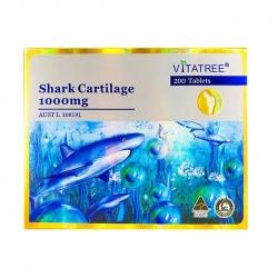 Tpbvsk Sụn cá mập Vitatree Shark Cartilage 1000mg, Chai 200 viên