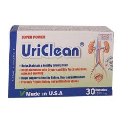 Super Power UriClean hỗ trợ điều trị sỏi thận, Hộp 30 viên