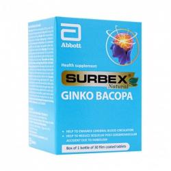 Surbex Natural Ginko Bacopa Abbott 30 viên