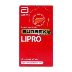 Surbex Natural Lipro Abbott 90 viên - Viên uống giảm mỡ máu, tim mạch