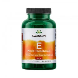 Swanson Vitamin E Mixed Tocopherols đẹp da, chống lão hóa, Chai 250 viên