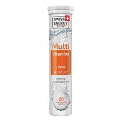 Thực Phẩm Bảo Vệ Sức Khoẻ Viên sủi Swiss Energy Multivitamins + Biotin (20 Viên/Lọ)