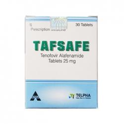 Thuốc Telpha Tafsafe 25mg, Hộp 30 viên
