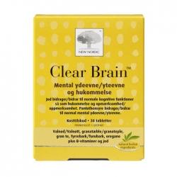 Tăng cường trí nhớ, bổ não New Nordic Clear Brain Hộp 30 viên