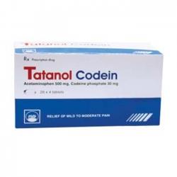 Tatanol Codein PMP, Hộp 20 vỉ x 4 viên