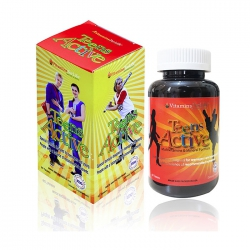 Viên Multivitamins cho thiếu niên Teen Active Vitamins For Life, Hộp 60 viên