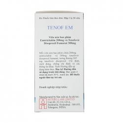 Thuốc Hetero TENOF EM 200mg/300mg, Hộp 30 viên ( VN3-72-18 )
