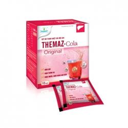 Bột sủi thanh nhiệt giải độc gan Themaz Cola Original - Vị Cherry, Hộp 10 gói