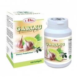 Thực phẩm bảo vệ sức khỏe UBB Garlic Essential Oil 8mg | Hộp 100 viên