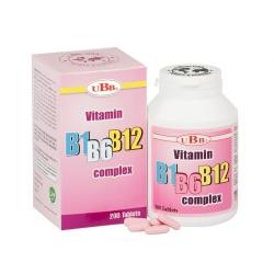 Thực phẩm bảo vệ sức khỏe UBB VITAMIN B1-B6-B12, Chai 200 viên