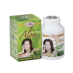 Thực phẩm bảo vệ sức khỏe UBB  Aloes +2 | Hộp 100 viên