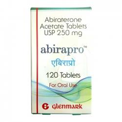 Thuốc ung thư tuyến tiền liệt Glenmark  Abirapro  250mg, Hộp 120 viên
