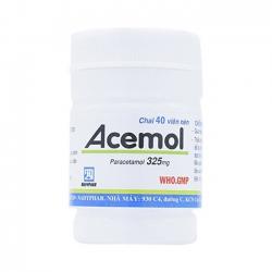 Thuốc Acemol 325mg Nadypha, Chai 40 viên