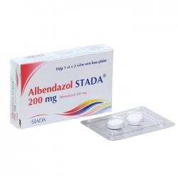 Thuốc tẩy giun Albedazol Stada 200mg, Hộp 02 viên