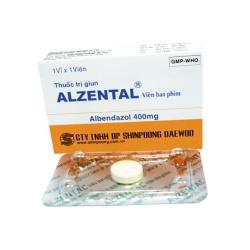 Thuốc Alzental, Albedazole 400mg Shinpoong, Hộp 01 viên