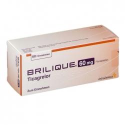 Thuốc AstraZeneca Brilique Ticagrelo 90mg, Hộp 60 viên