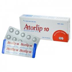 Thuốc Atorlip 10mg DHG, Hộp 30 viên