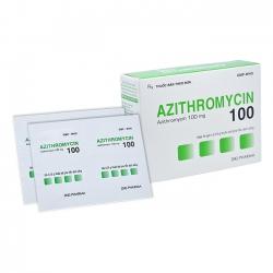 Thuốc Azithromycin 100mg DHG, Hộp 24 gói x 0,75g