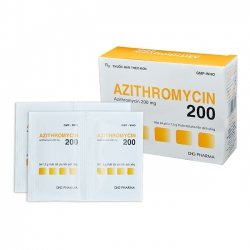Thuốc Azithromycin 200mg DHG, Hộp 24 gói x 1,5g