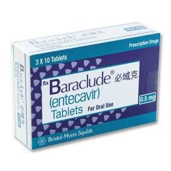 Thuốc Bristol Myers Baraclude 0,5mg, Hộp 30 viên