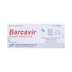 Thuốc Barcavir điều trị viêm gan B mãn tính, Hộp 10 viên